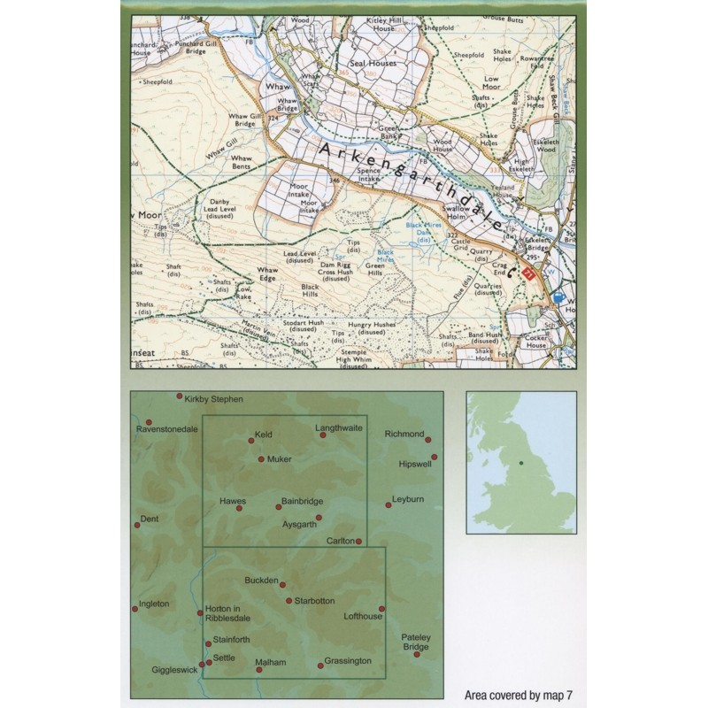 7 Central Yorkshire Dales Walkers Map