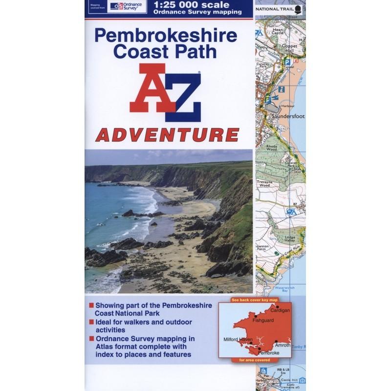 Pembrokeshire Coast Path A-Z Adventure Atlas by A-Z