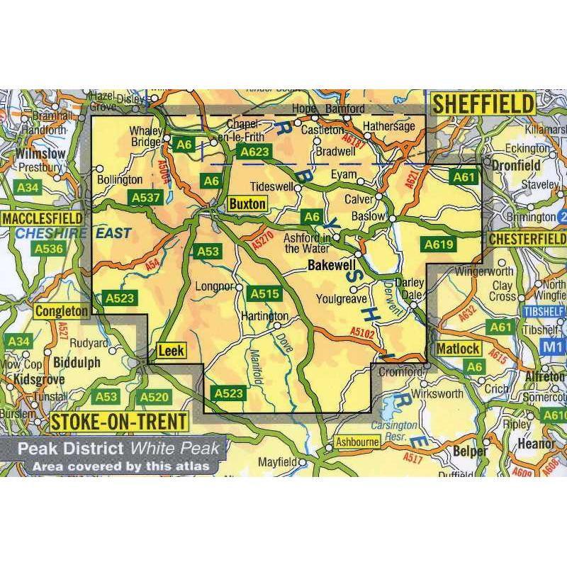 Peak District: White Peak A-Z Adventure Atlas by A-Z
