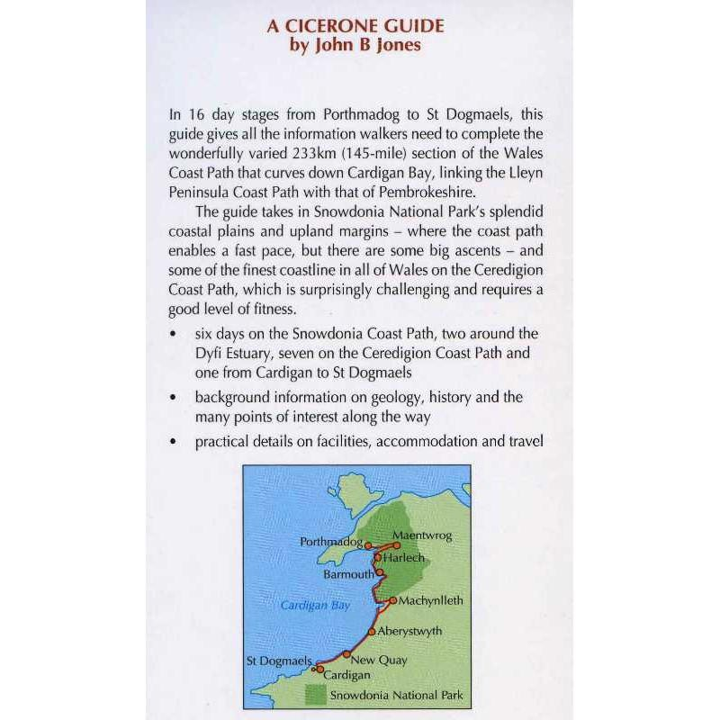 The Ceredigion and Snowdonia Coast Paths: the Wales Coast Path from Porthmadog to St Dogmaels by Cicerone