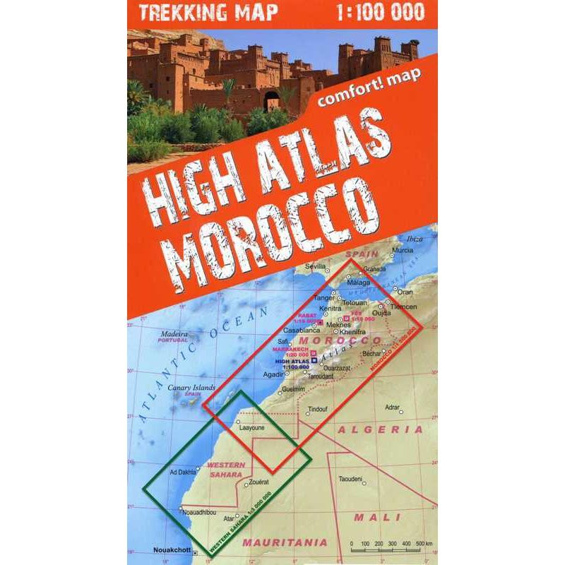 High Atlas Morocco Trekking Map by terraQuest