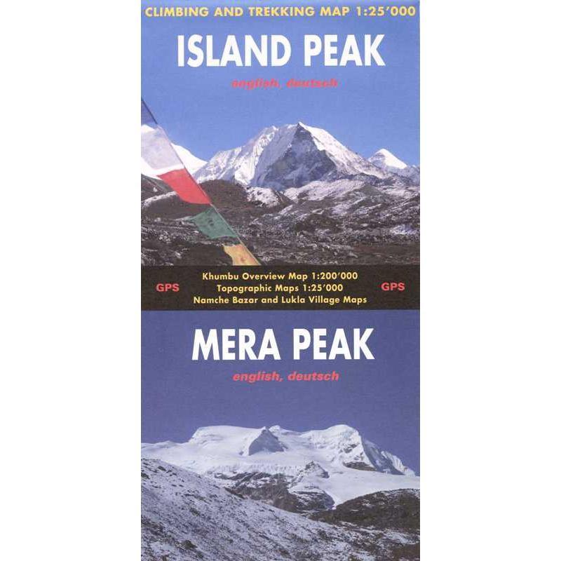 Island Peak & Mera Peak Climbing & Trekking Map by Climbing-Map.com