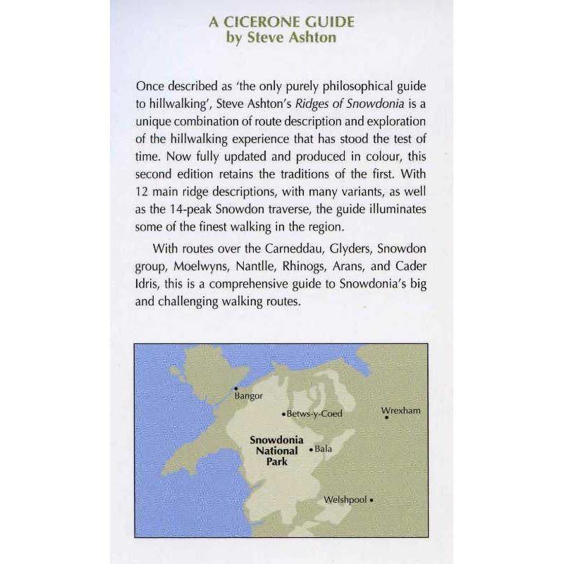 Ridges of Snowdonia: the best ridge walking by Cicerone