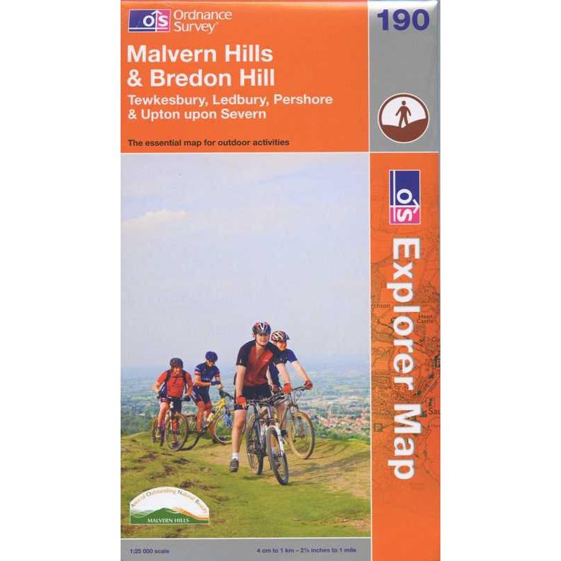 EXP190 Malvern Hills & Bredon Hill: Tewkesbury Ledbury Pershore & Upton upon Severn