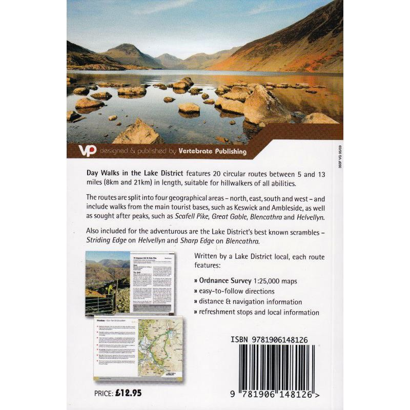 Day Walks in the Lake District by Vertebrate Publishing
