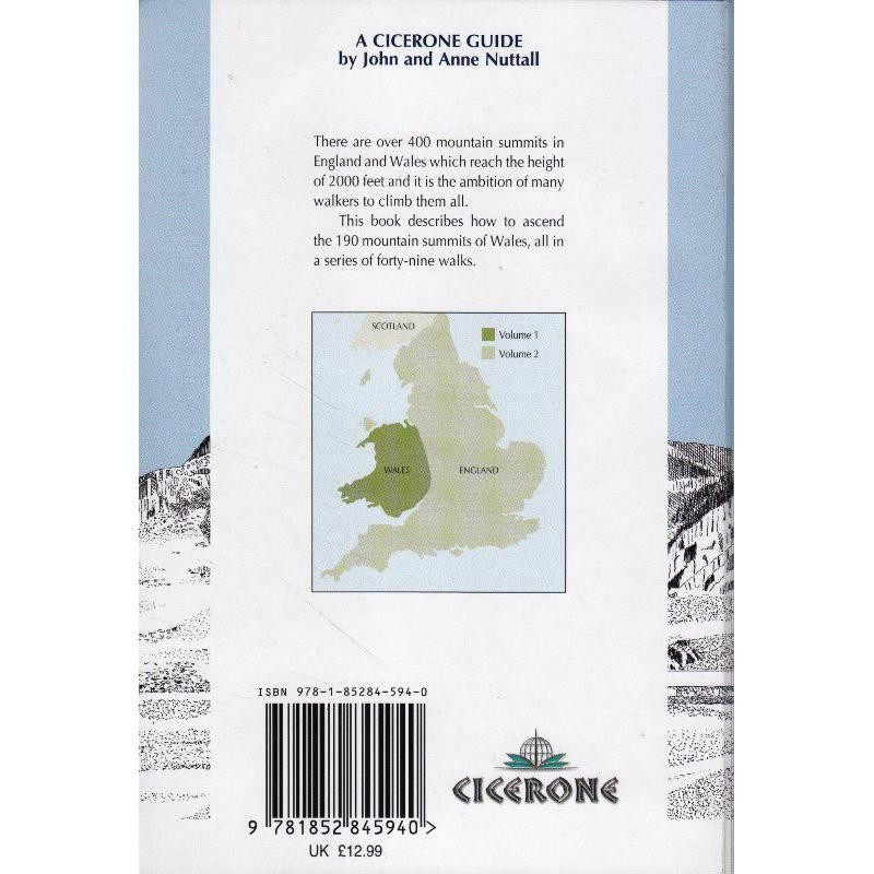 The Mountains of England & Wales Volume 1: Wales by Cicerone