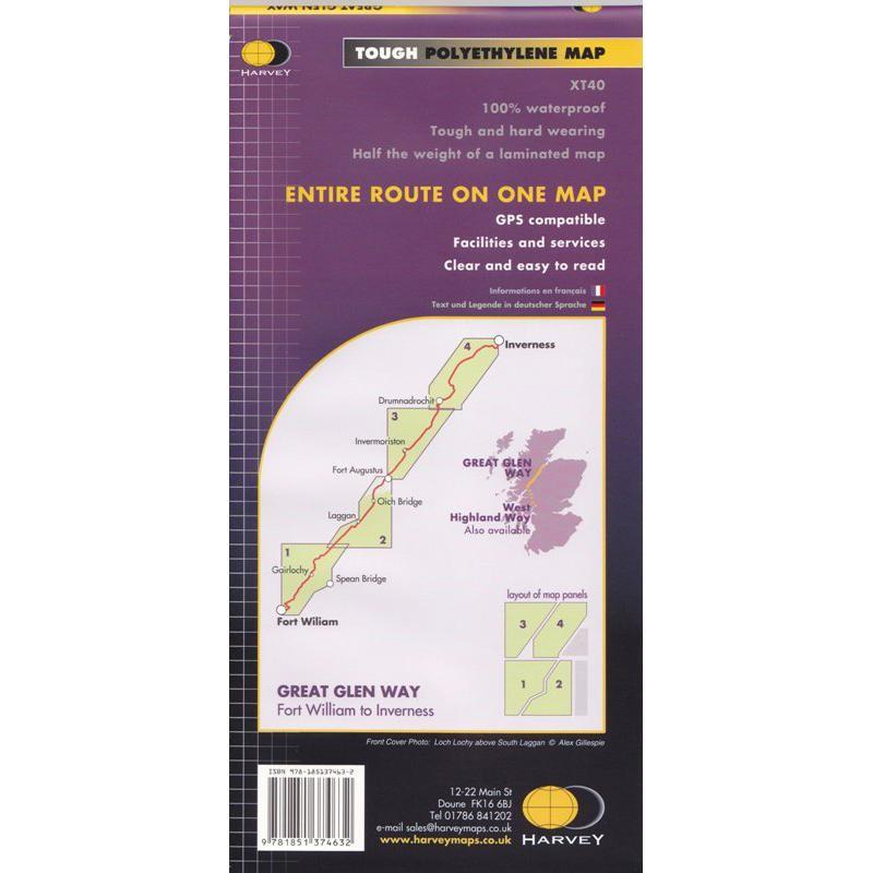 Great Glen Way map by Harvey