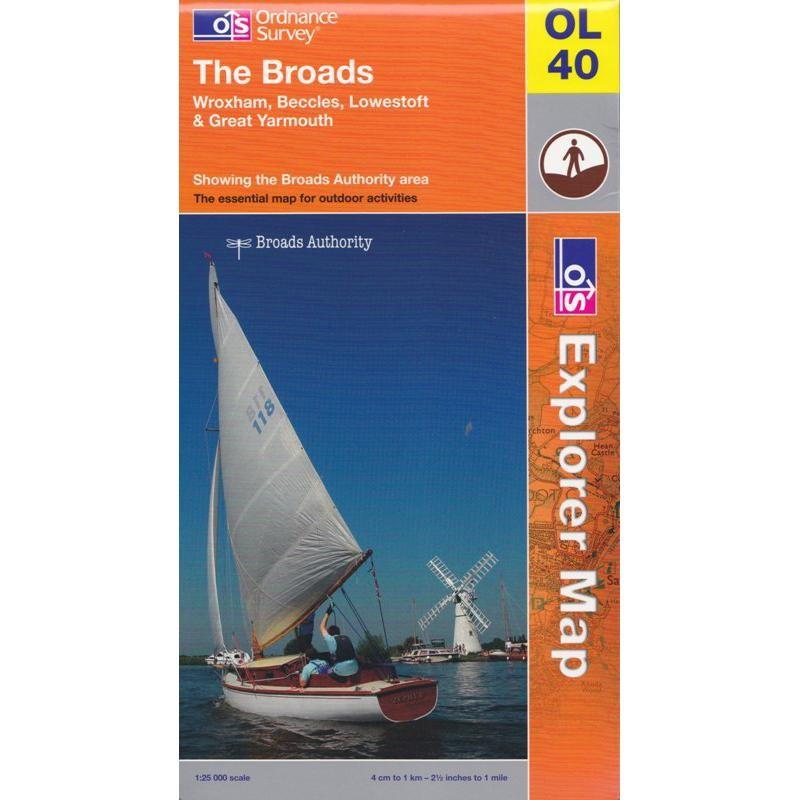 OL40 The Broads by Ordnance Survey