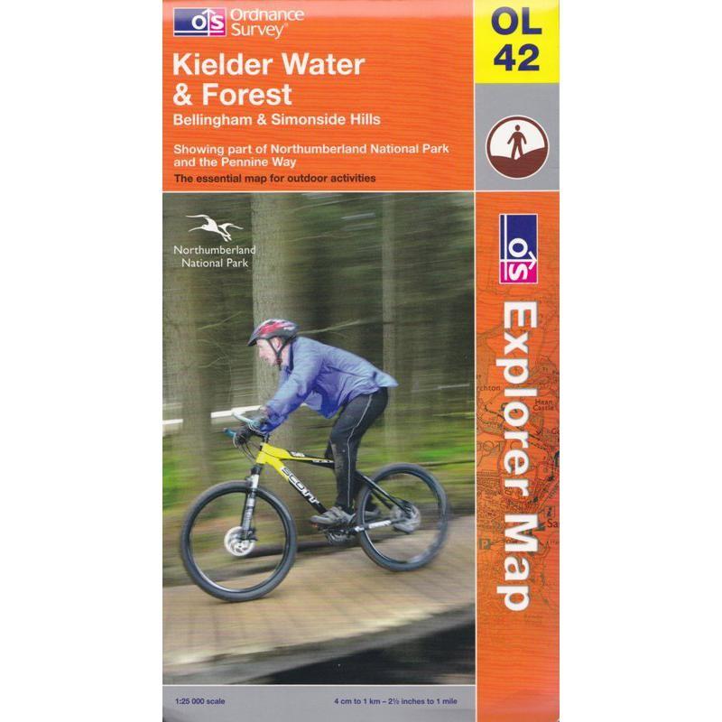 OL42 Kielder Water & Forest by Ordnance Survey