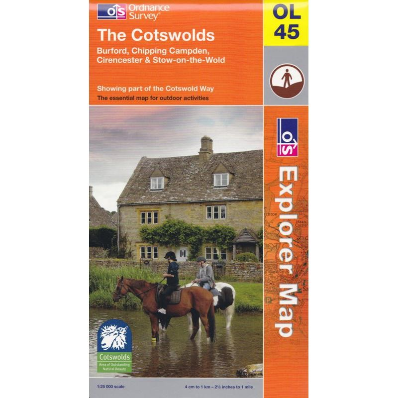 OL45 The Cotswolds by Ordnance Survey