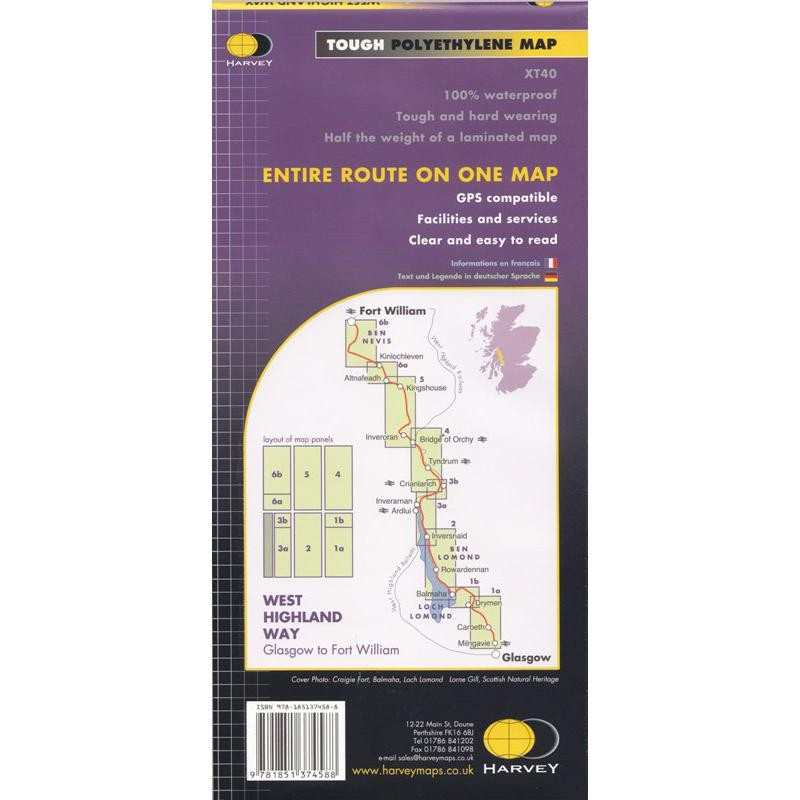 West Highland Way: Glasgow to Fort  William by Harvey