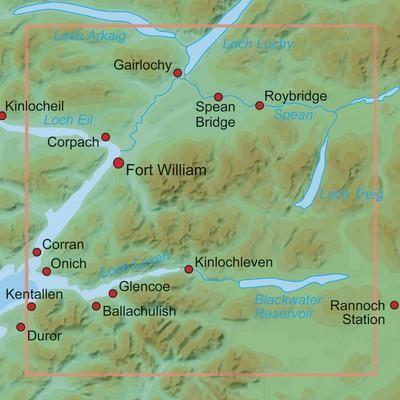 24 Ben Nevis Fort William & Glen Coe Leisure Map