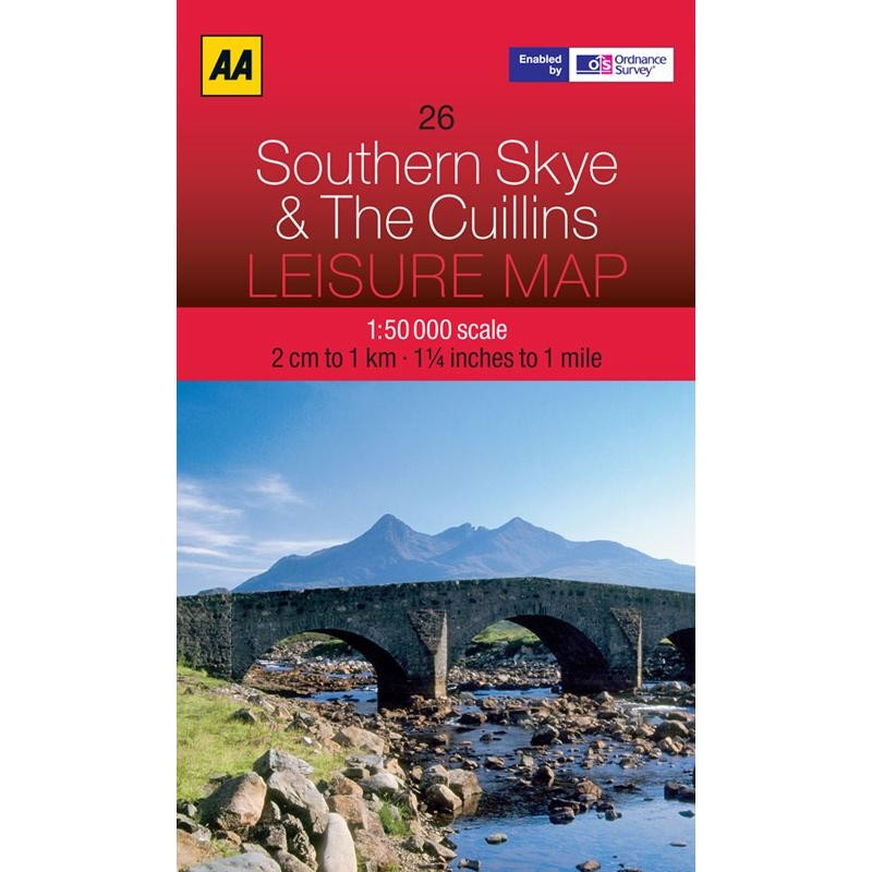 26 Southern Skye & The Cuillins Leisure Map