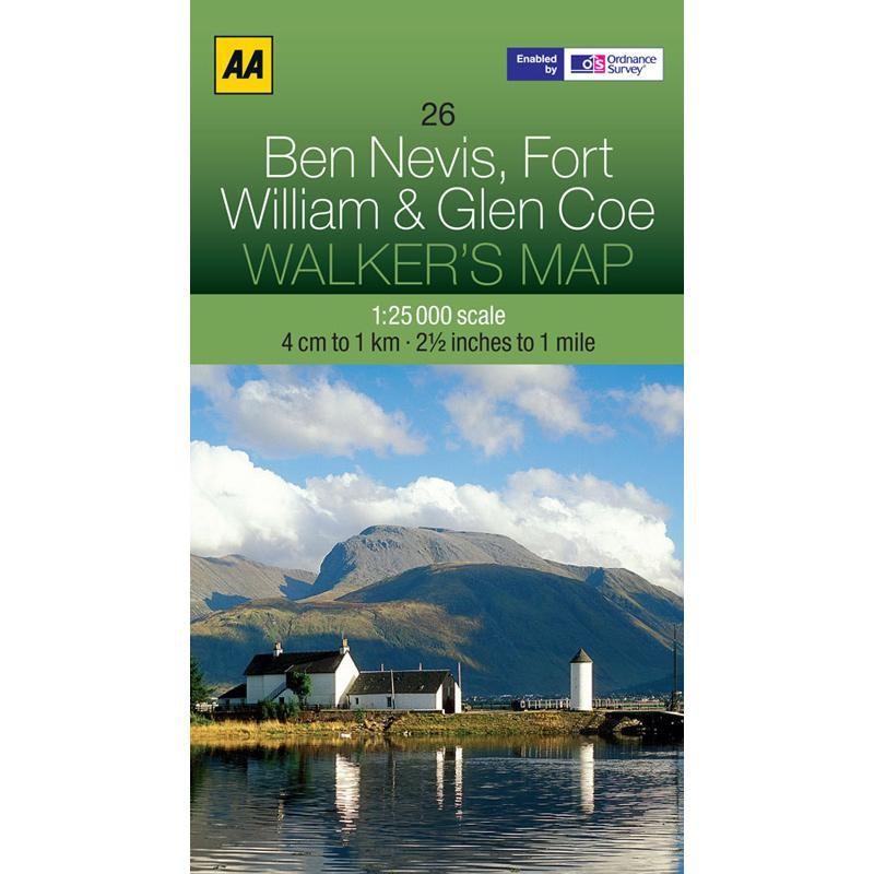 26 Ben Nevis Fort William & Glen Coe Walkers Map