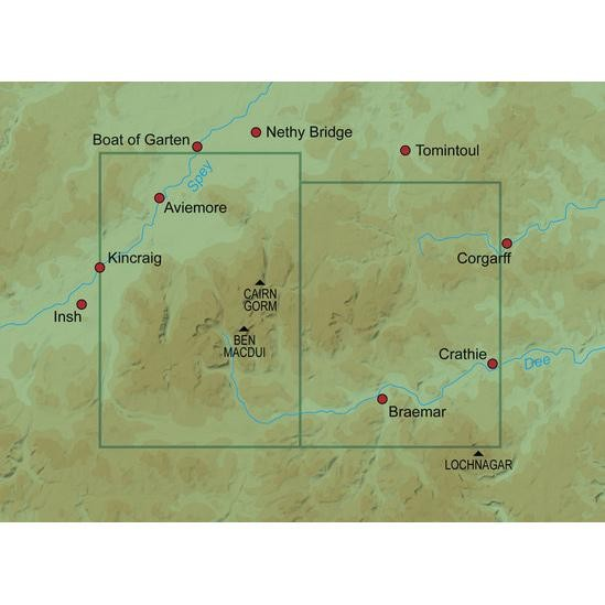 28 Aviemore & Central Cairngorms Walkers Map