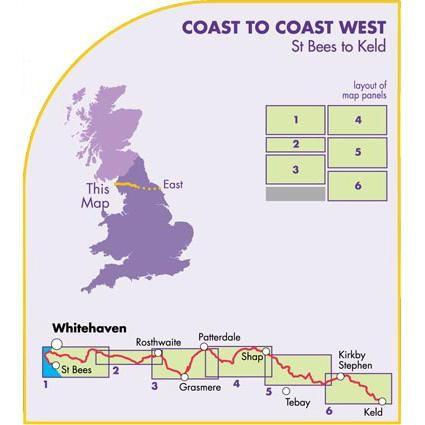 Coast to Coast West: St Bees to Keld by Harvey