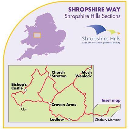 Shropshire Way: Shropshire Hills Sections by Harvey