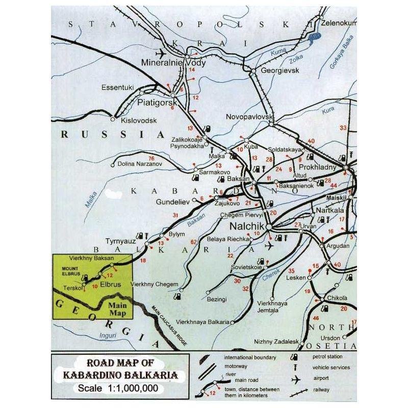 Elbrus Map & Guide