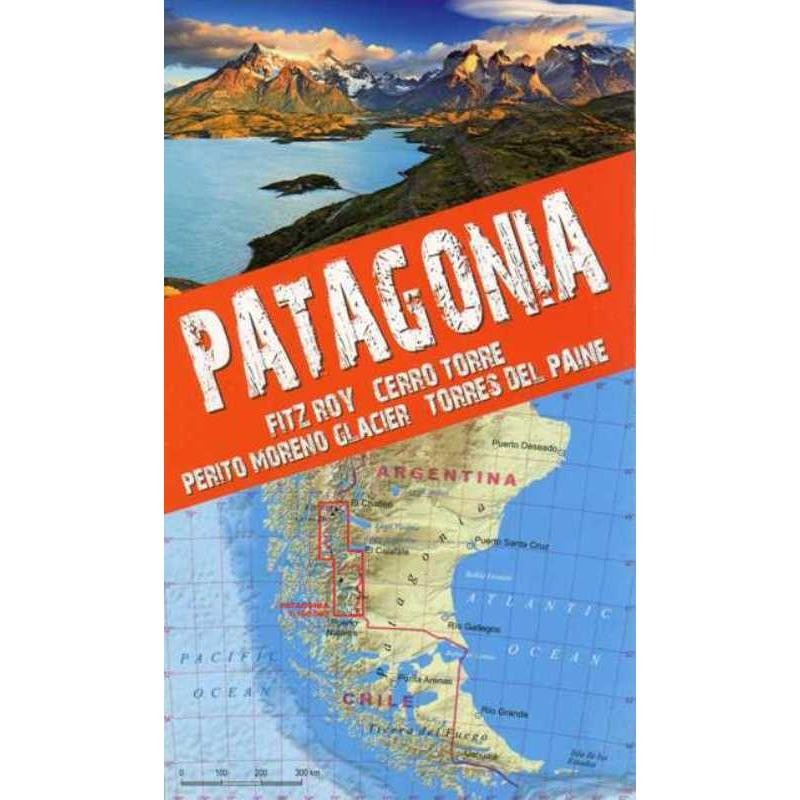 Patagonia Trekking Map by terraQuest