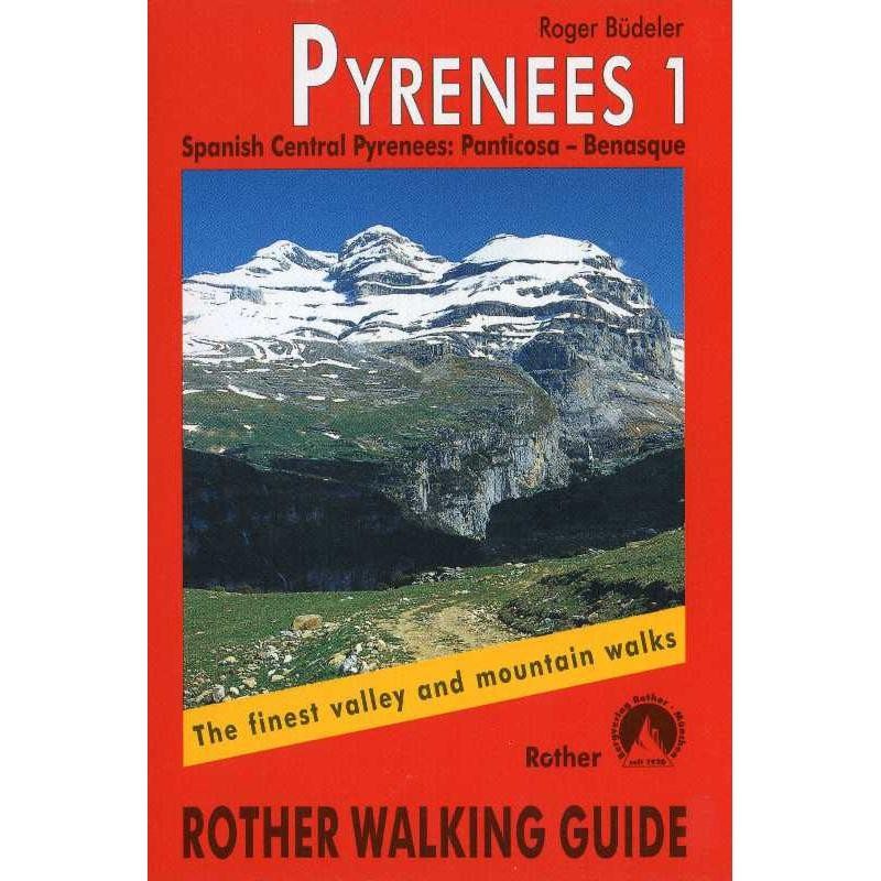 Pyrenees 1: Central Spanish Pyrenees by Bergverlag Rother
