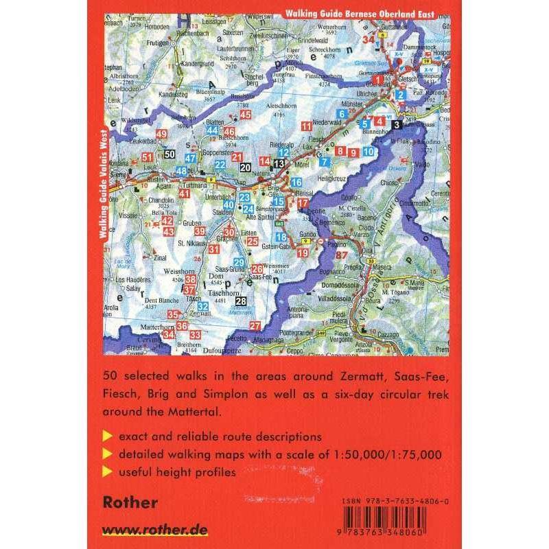 Valais East by Bergverlag Rother
