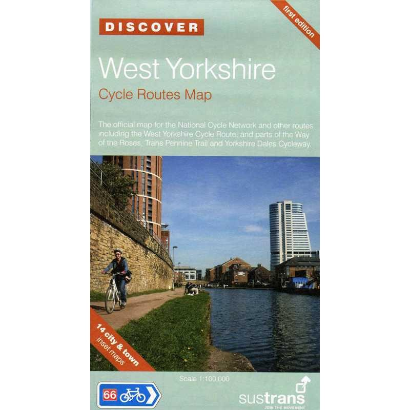 West Yorkshire Cycle Routes map by Sustrans