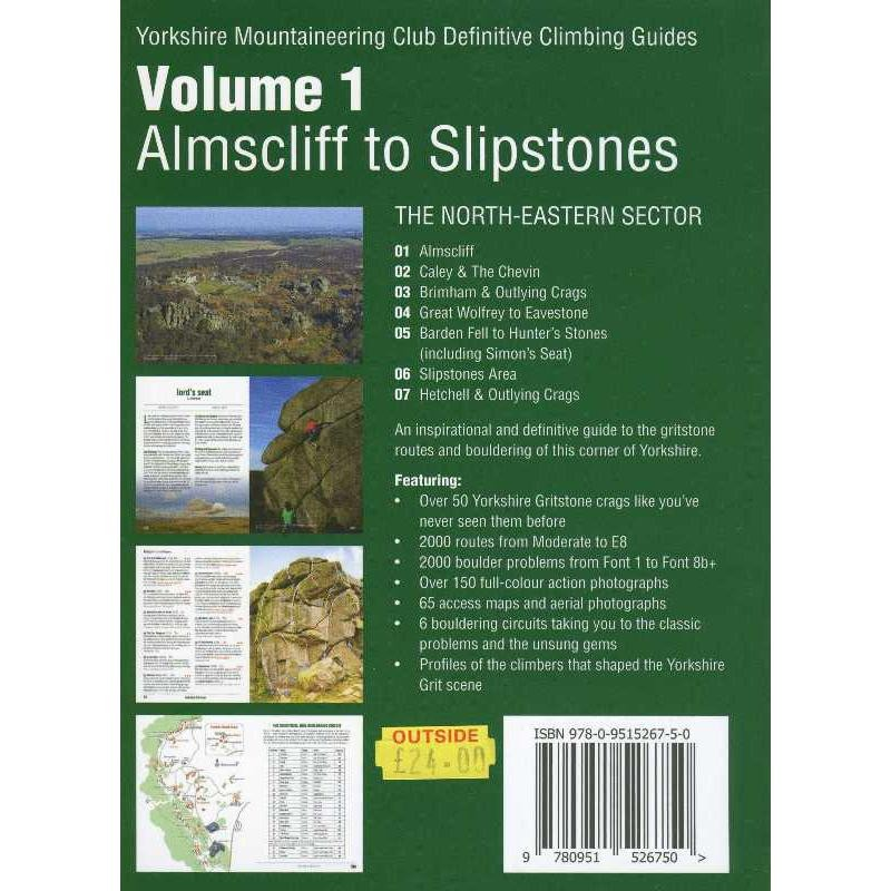 Yorkshire Gritstone Volume 1 Almscliff to Slipstones by Yorkshire Mountaineering Club