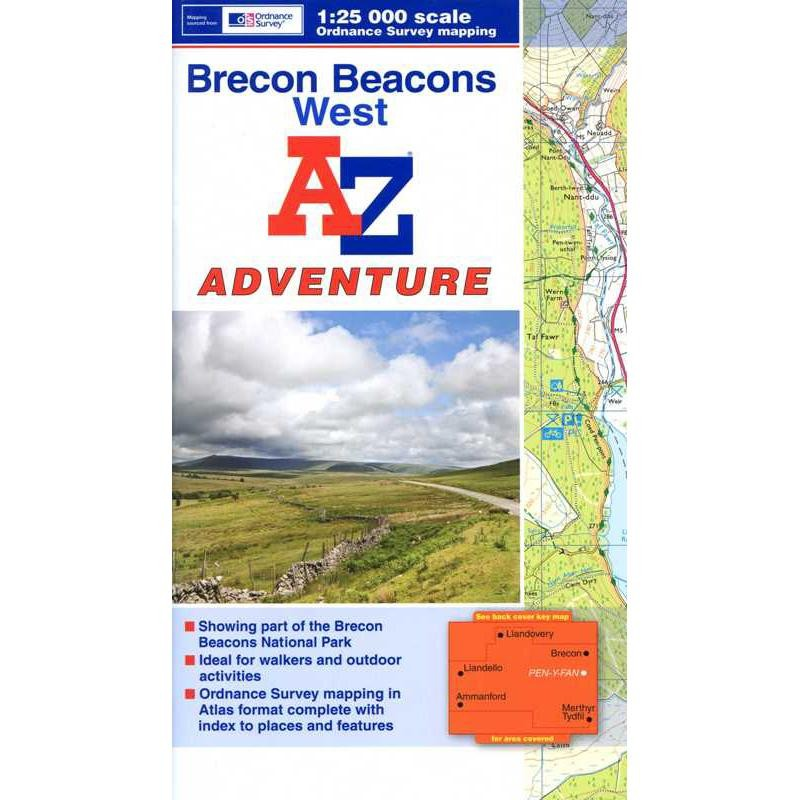 Brecon Beacons West by A-Z