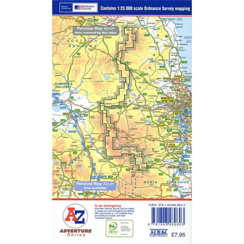 Pennine Way North by A-Z
