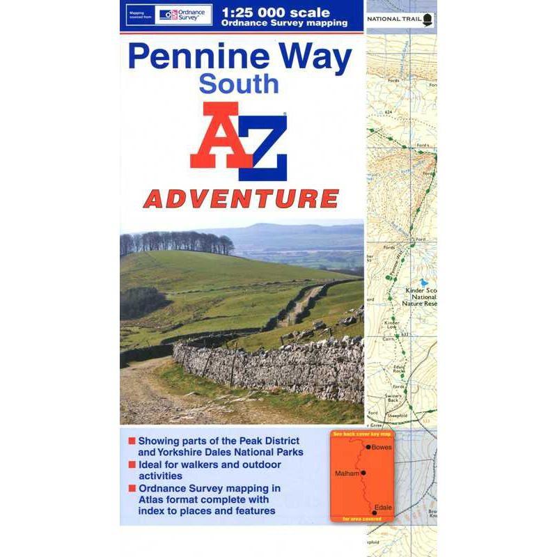 Pennine Way South: A-Z Adventure Atlas by A-Z