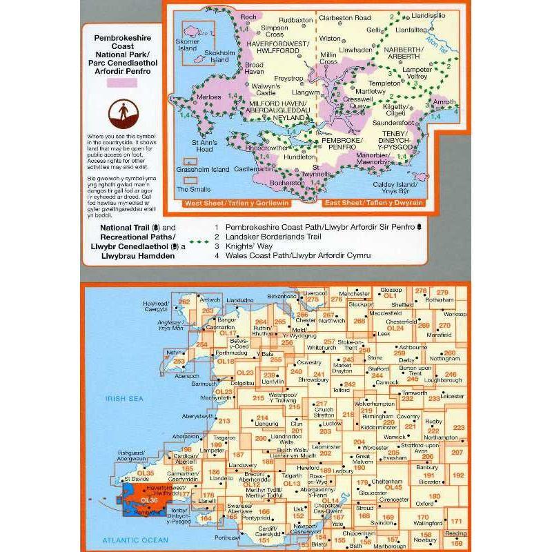 OL36 South Pembrokeshire /De Sir Benfro by Ordnance Survey