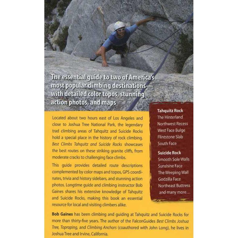 Best Climbs: Tahquitz and Suicide Rocks by Falcon Guides
