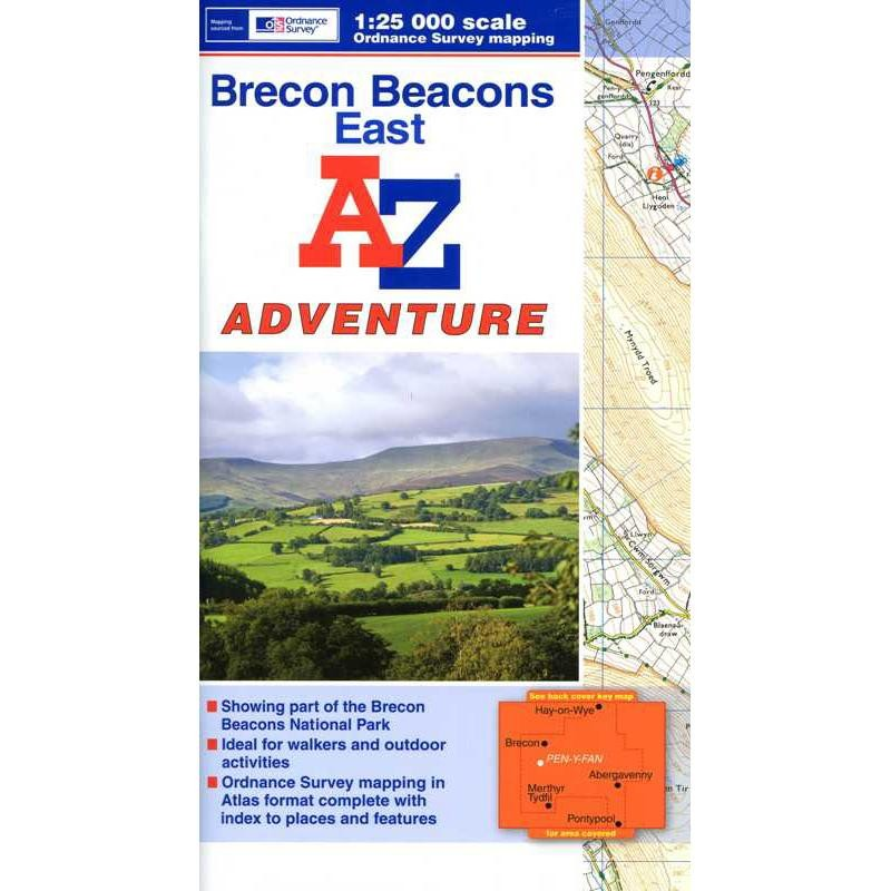 Brecon Beacons East by A-Z