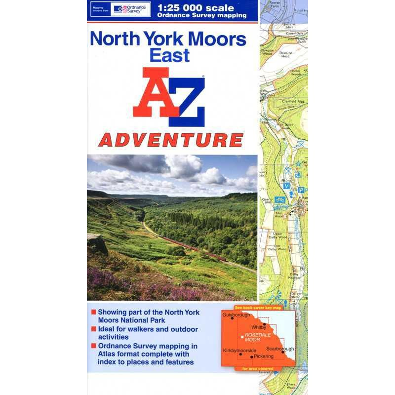 North York Moors East by A-Z