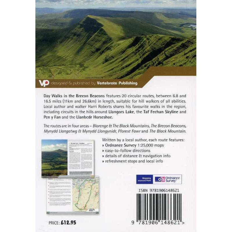 Day Walks in the Brecon Beacons: 20 Circular Walks in South Wales