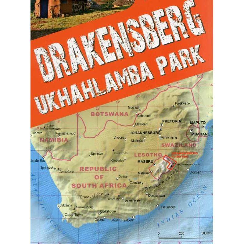 Drakensberg Trekking Map by terraQuest