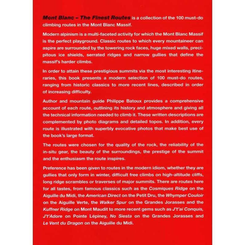 Mont Blanc: The Finest Routes by Vertebrate Publishing
