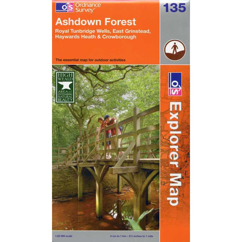EXP135 Ashdown Forest: Royal Tunbridge Wells East Grinstead Haywards Heath Crowborough