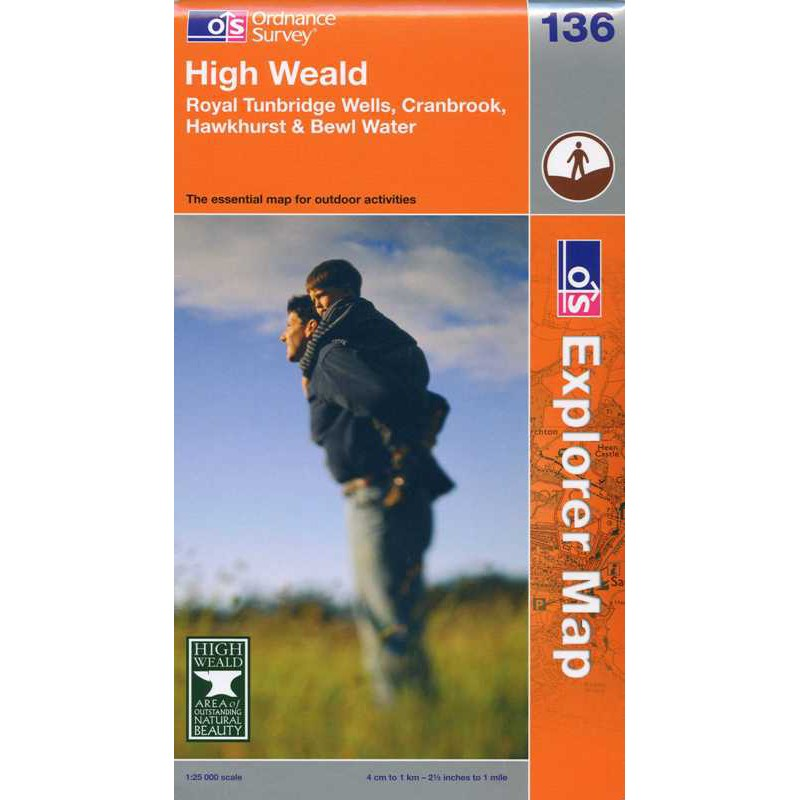 EXP136 High Weald: Royal Tunbridge Wells Cranbrook Hawkhurst & Bewl Water