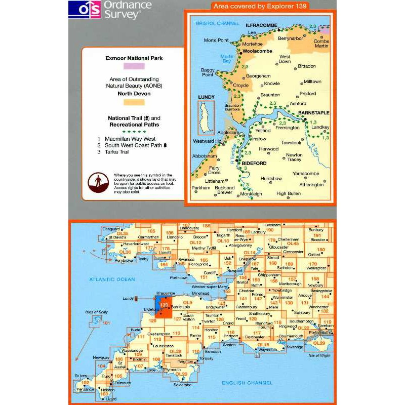 EXP139 Bideford Ilfracombe & Barnstaple: Woolacombe & Lundy