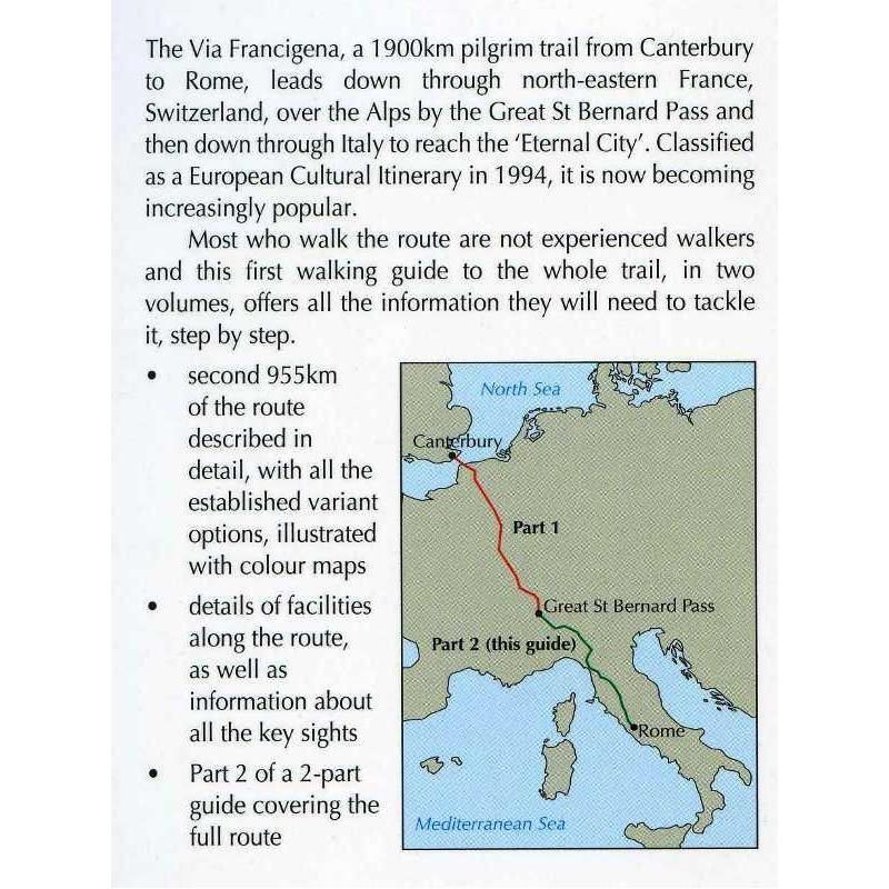 Via Francigena 2: Pilgrim Trail Canterbury to Rome: The Great St Bernard Pass to Rome by Cicerone