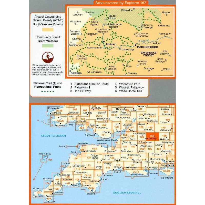 EXP157 Marlborough & Savernake Forest: Avebury & Devices