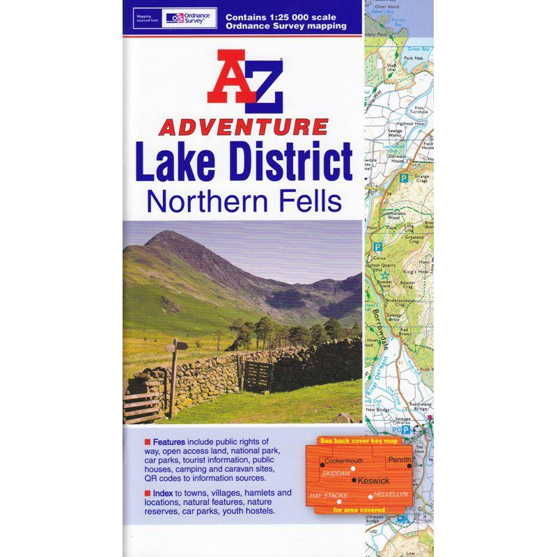 Lake District Northern Fells by A-Z