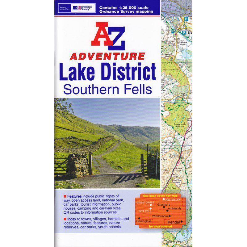 Lake District Southern Fells by A-Z