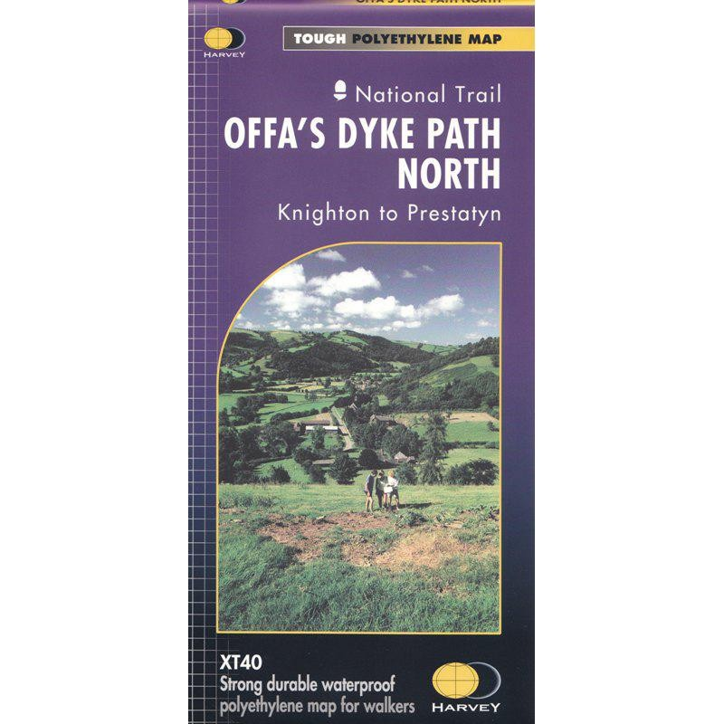 Offas Dyke Path North map by Harvey