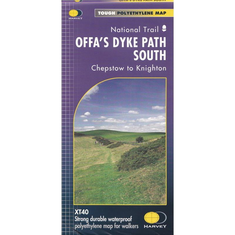 Offas Dyke Path South map by Harvey