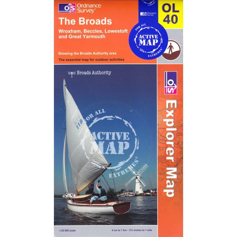 OL40 The Broads ACTIVE by Ordnance Survey