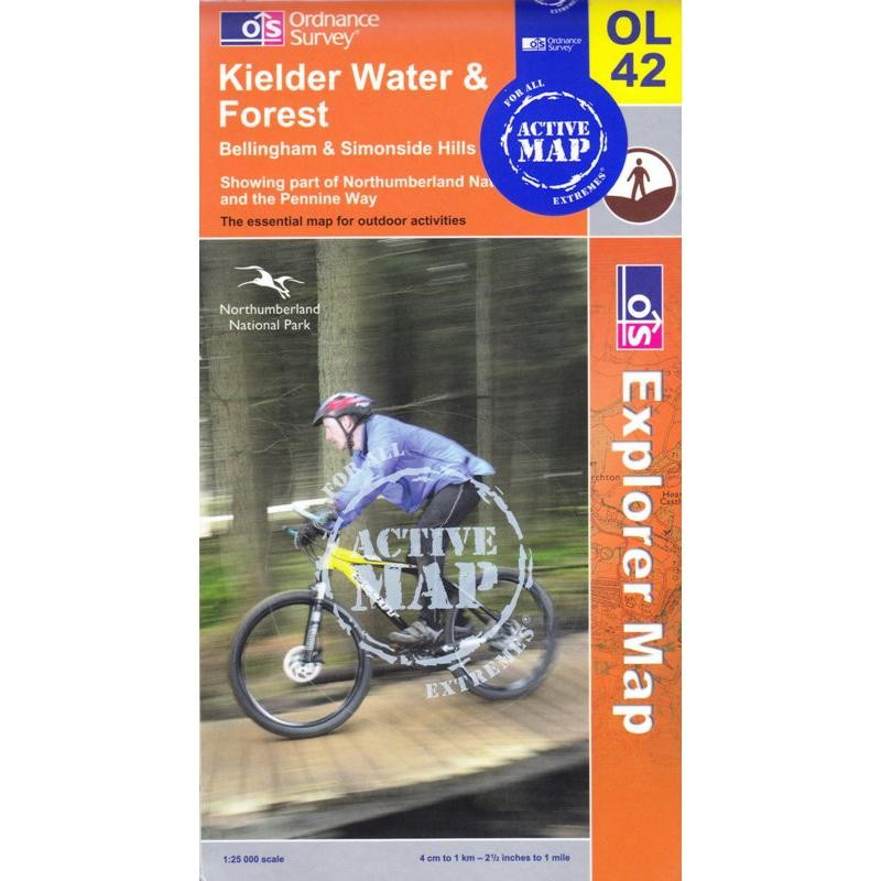 OL42 Kielder Water ACTIVE by Ordnance Survey