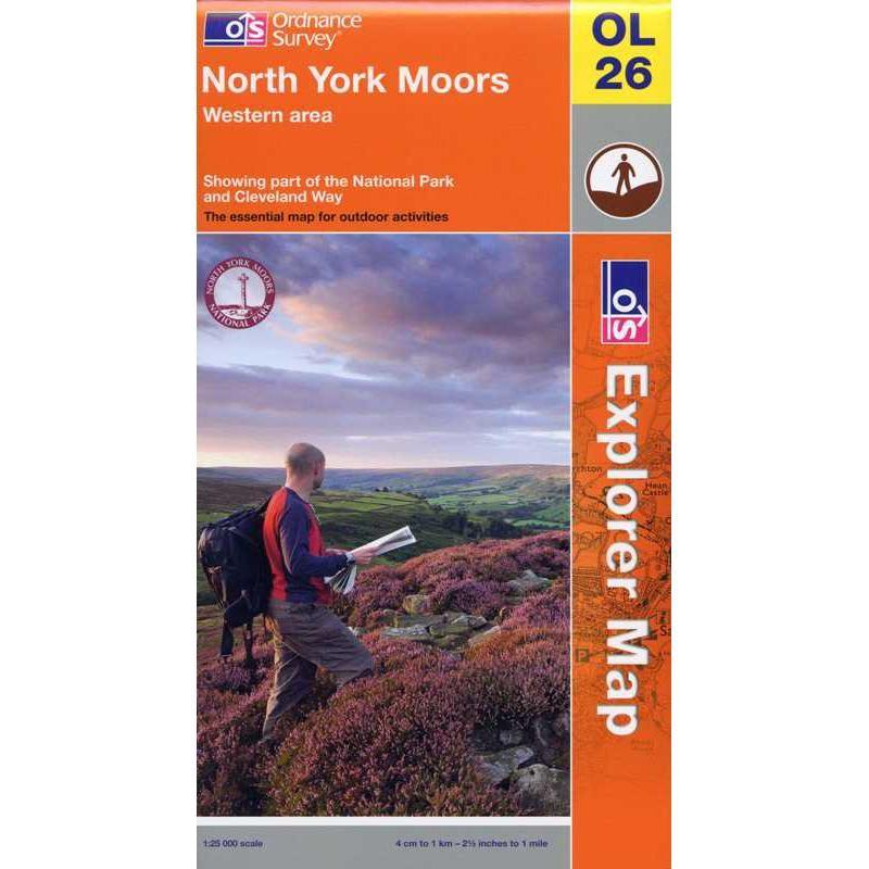 OL26 North York Moors: Western area by Ordnance Survey