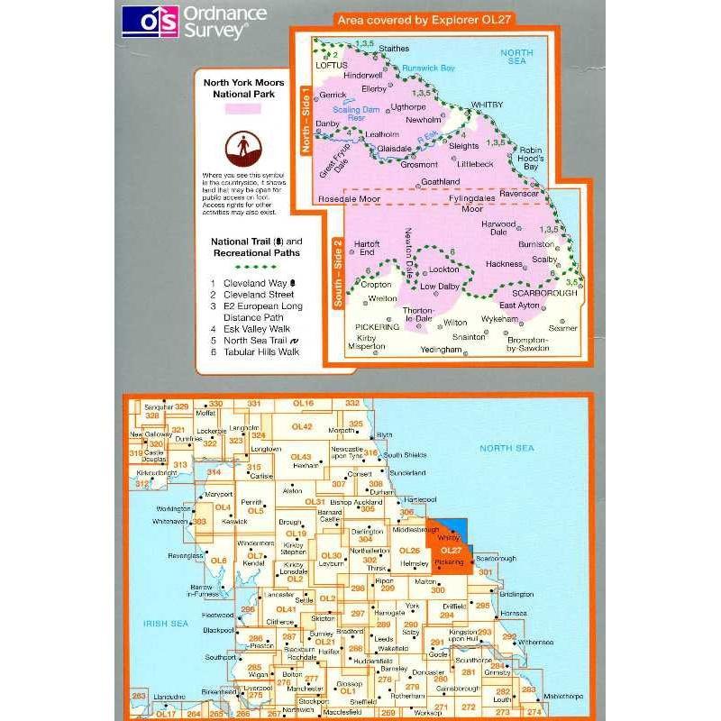 OL27 North York Moors: Eastern area by Ordnance Survey
